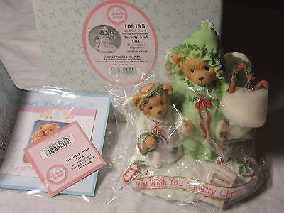 Lot65 - BEVERLY and LILA Cherished Teddies #104145 Boxed - Christmas Angel Bears
