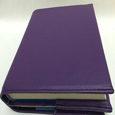 AA Big Book and 12 Steps & 12 Traditions Purple Leather Double Book Cover