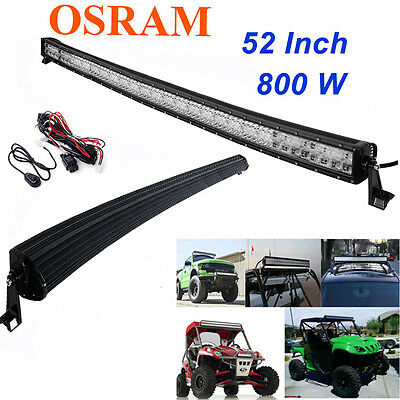 "OSRAM 800W 52""CURVED LED Combo Work Light Bar Offroad Driving Lamp FLOOD SPOT 52"