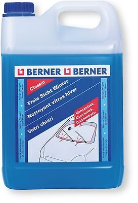 Berner Winter screenwash 5L Citrus Scent with Freeze protection -30°C 130607