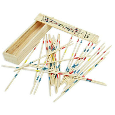 Children Educational Wooden Traditional Mikado Spiel PickUp Sticks With Box Game