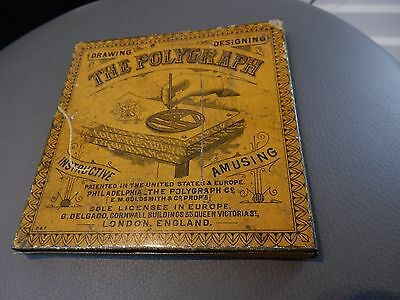 Delgado Polygraph Drawing Machine Boxed & Instructions Antique Vintage 1888