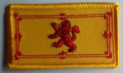 Scotland Scottish Lion Rampant Rectangular Embroidered Patch Badge S