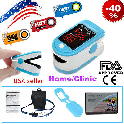 US Fingertip Pulse Heart Rate Monitor Finger Blood Oxygen Pulse Oximeter Spo2 PR