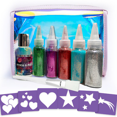 Equifashion Horse & Pony Quarter Marks Glitter Tattoo Kit - Equidivine Sabella