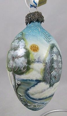 G. DeBrekht - Hand Painted - Winter Wonderland - 1999 Glass Christmas Ornament