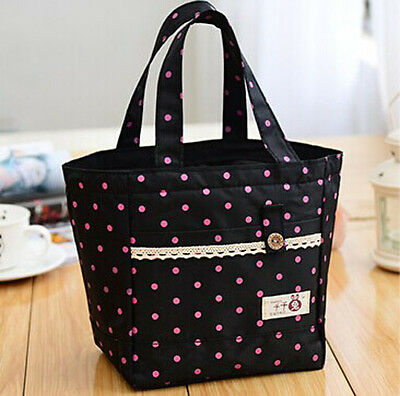 Lunch Bag Insulated Thermal Cooler Box Carry Tote Storage Travel Picnic Bag