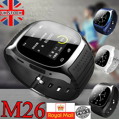 Bluetooth M26 watch  Smart Watch pedometer SMS For Android IOS Iphone Samsung