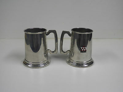 Birks English Pewter Made In England-Glass Bottom Beer Stein