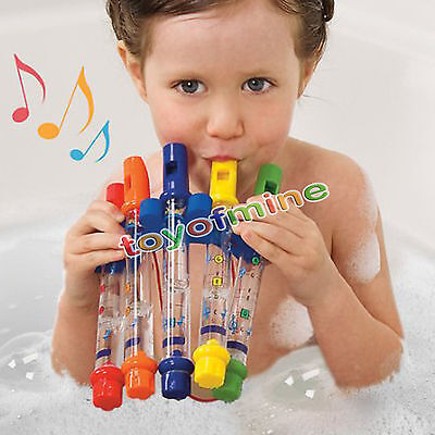 5PCS WATER FLUTES BATH TUB TUNES MUSIC KIDS CHILDREN pool beach shower game TOY