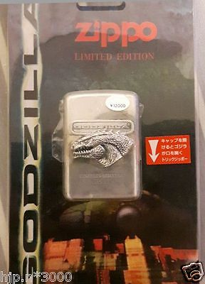 Zippo GODZILLA Limited Edition figure plated movie Collectible Japan VERY RARE