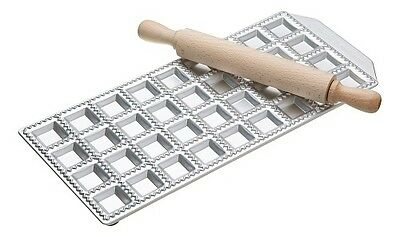 Imperia 36 Hole Ravioli Tray and Rolling Pin