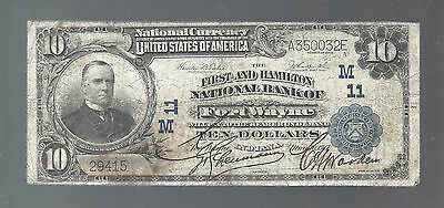 1902 $10 The First Nb Of Fort Wayne, Indiana  National Currency Ch.11