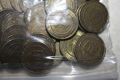 """""""25"""" Boston """"MBTA"""" Transit Tokens from the 70s Era.""""Wicked Deal"""" $ave$"""