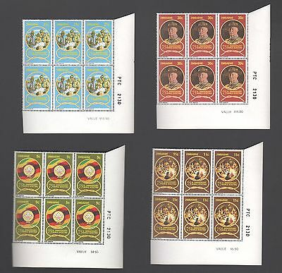 ZIMBABWE 1982 75th Anniv BOY SCOUTS Lord Baden Powell  SHEET NUMBER  BLOCKS MNH