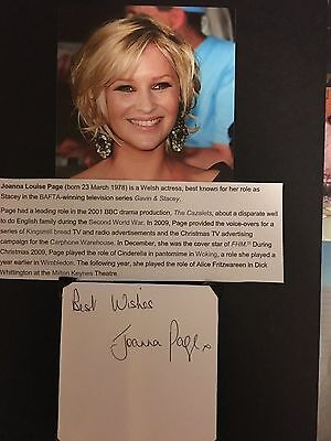 Joanna Page hand signed letter of Welsh actress & performer