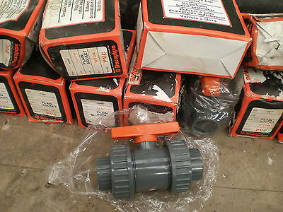 40mm Solvent Weld Ball Valve Double Union PVC Equivalent ABS