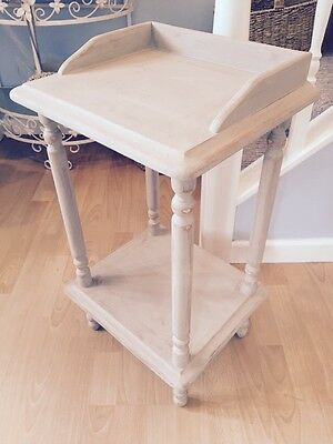 Handpainted Aged Wash Stand Shelf Telephone Console Table Country Grey Free P&P