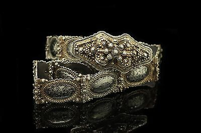 Antique Original Perfect Silver Niello Amazing Van Armenian For Lady Belt