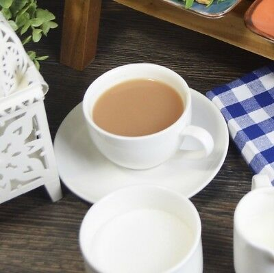 Sets Of Pure White Porcelain Tea Coffee Cups And Saucers 6.1oz 175ml