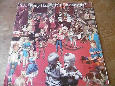 """BAND AID ~ DO THEY KNOW IT'S CHRISTMAS?  12"""" single Original 1984 VG/VG"""