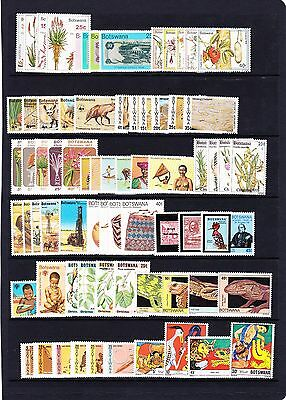 Botswana Various Unmounted Mint Commemorative Sets Between 1975-1981 Mnh.