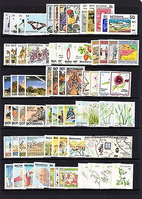 Botswana Various Unmounted Mint Commemorative Sets Between 1984-1998 Mnh.
