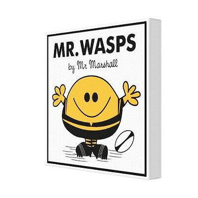 "Personalised Wasps Rugby Canvas Print 12""x12"" - 18mm deep frame"