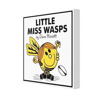 """Personalised Wasps Rugby Canvas Print 12""""x12"""" - 18mm deep frame"""