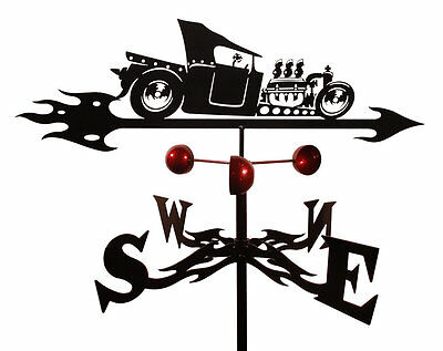 SWEN Products Farrell - T-Bucket Rat Rod Weathervane with Roof Mount