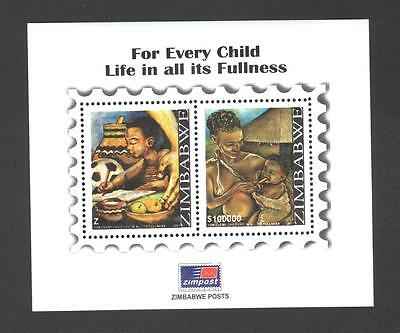 ZIMBABWE 2007 CHILD LIFE   Minisheet  MNH