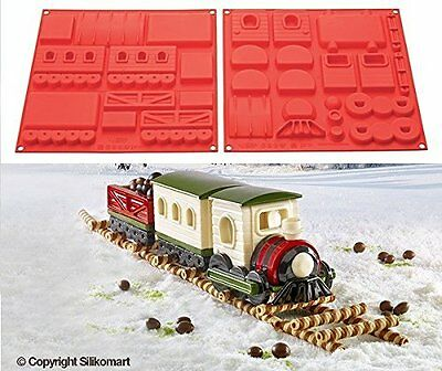 SILIKOMART STAMPO DOLCI SILICONE TRENO NATALE CHRISTMAS MAGIC TRAIN HSH 08 mshop