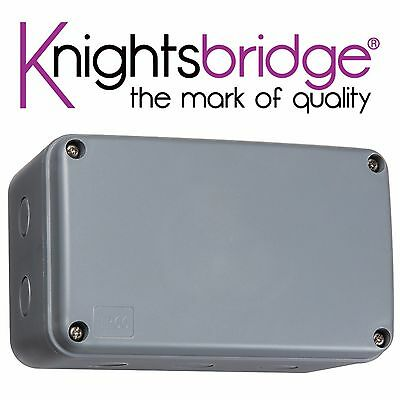 Knightsbridge Weatherproof Junction Box Outdoor Electric Power Connection (XL)