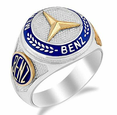 Turkish 925 Sterling Silver MERCEDES Sapphire Mens Ring Sz 11 us FREE RESİZE