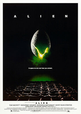 Alien Movie Poster Print Borderless Stunning Vibrant Sizes A1 A2 A3 A4