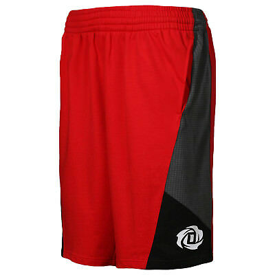 adidas NBA Derrick Rose 773 Basketball Cotton Slim Fit Sweat Shorts - Red