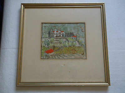 FRAMED WATERCOLOUR PAINTING by EDITH WRIGLEY A STUDY OF PERAPEDHI CYPRUS