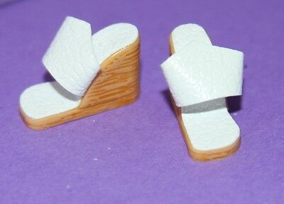 Vintage Barbie Reproduction WINTER HOLIDAY RESORT SET White Wedge Sandals Shoes
