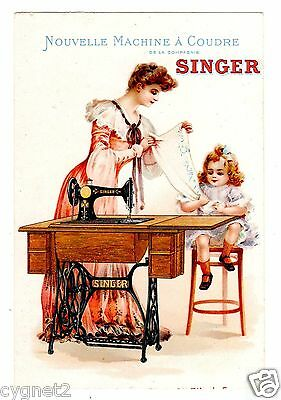 Trade Card French Singer Sewing Machine Paris