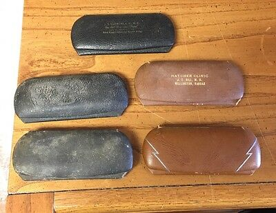 Lot Of 5 Vntg Empty Eye Glass Spectacle Cases