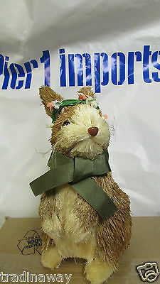 NWT Pier 1 Natural Sitting Easter Bunny Rabbit Decoration