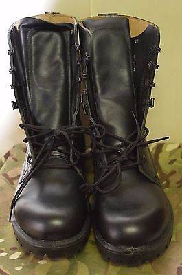 British Army Combat Assault Black Leather Mens Military Cadet Boots UK Size 9 L