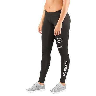 Virus Women's Stay Warm Coffee Charcoal Compression Pants - Black