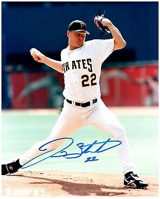 Pittsburgh Pirates JASON SCHMIDT Signed Autographed 8x10 Pic. C