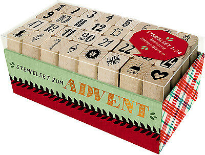 Stempelset zum Advent Holzstempel-Set
