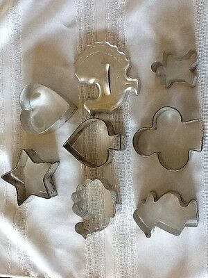 Lot Of 8 Cookie Cutters Vintage