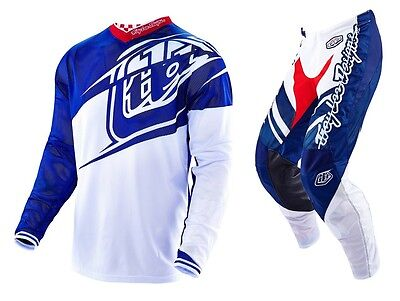 New 2016 Troy Lee Designs Gp Air Flexion Gear Combo Navy/ White Size 28/small
