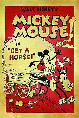 Home Wall Art Print - Vintage Film Movie Poster - MICKEY MOUSE  - A4, A3, A2, A1