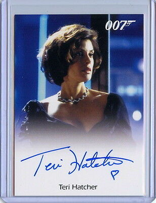 2016 James Bond Archives Spectre 007 TERI HATCHER Full Bleed Auto Autograph