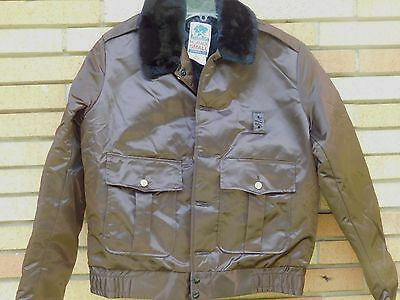 Vintage horace Small 1970s Police Style Brown Jacket NOS SZ 42 L FREE Ship